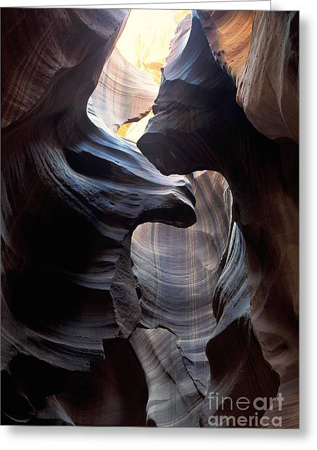 Antelope Canyon 3 Greeting Card by Stan and Anne Foster