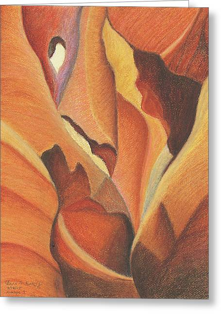 Antelope Canyon 4 - For Gloria Greeting Card