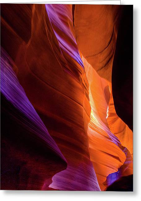 Antelope Canyon Color Greeting Card