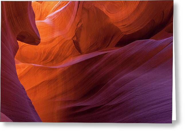 Antelope Canyon Fire Greeting Card
