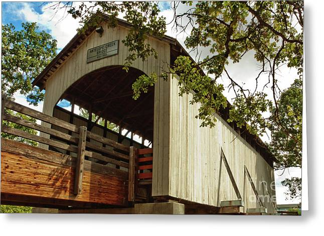 Antelope Creek Bridge Greeting Card
