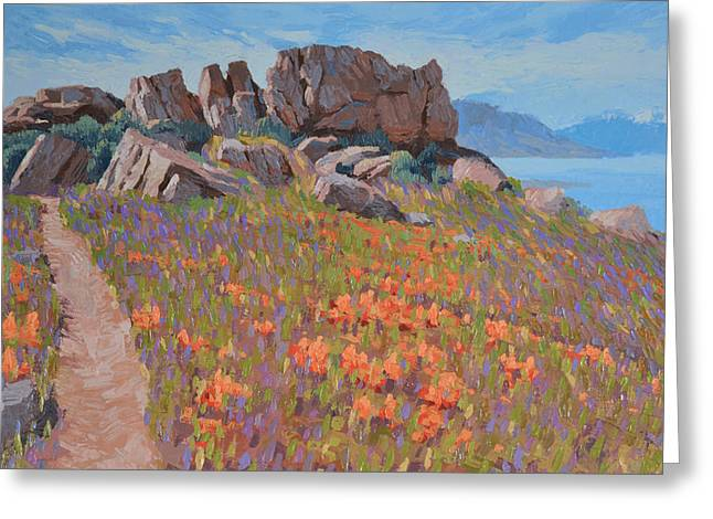 Antelope Island Outcrop Greeting Card