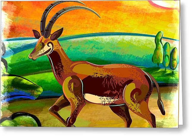Antelope Of The Valley Greeting Card