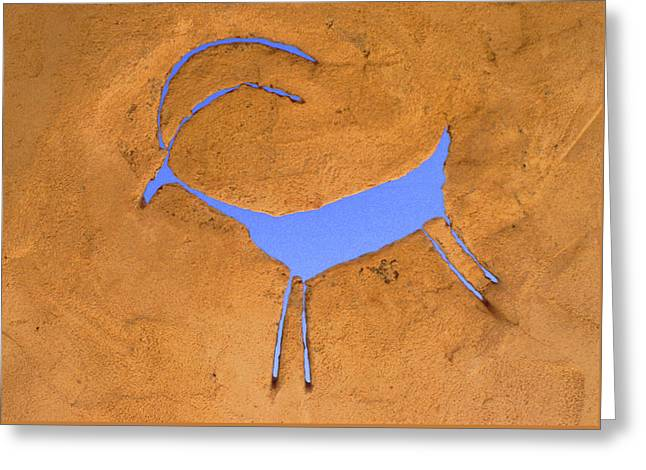 Antelope Petroglyph Greeting Card by Jerry McElroy