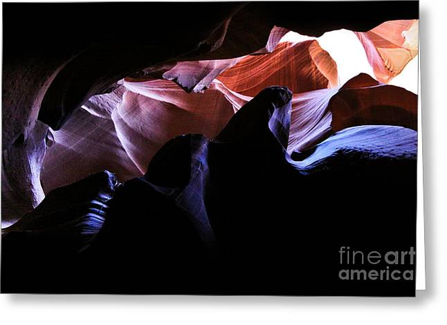 Antelope Slot Canyons Greeting Card by Ryan Kelly