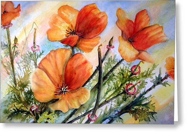 Antelope Valley Poppy Fields Greeting Card