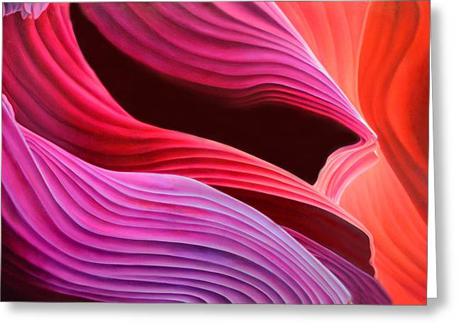 Antelope Waves Greeting Card by Anni Adkins