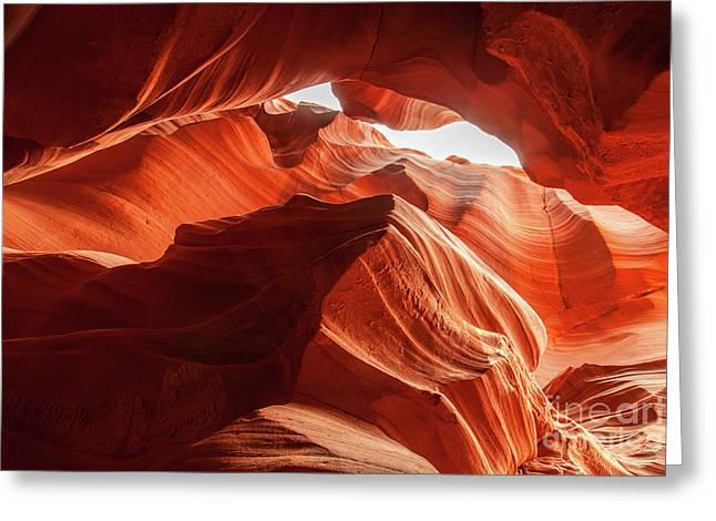 Antelope Canyon, Howling Wolf Greeting Card by Martin Williams