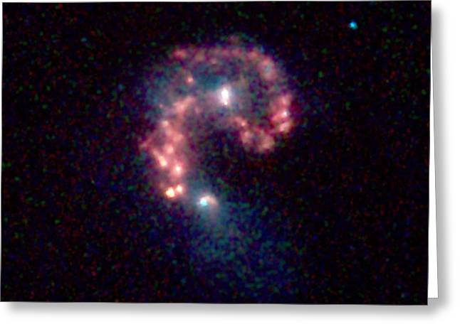 Antennae Galaxies, Ngc 4038ngc 4039 Greeting Card by Science Source