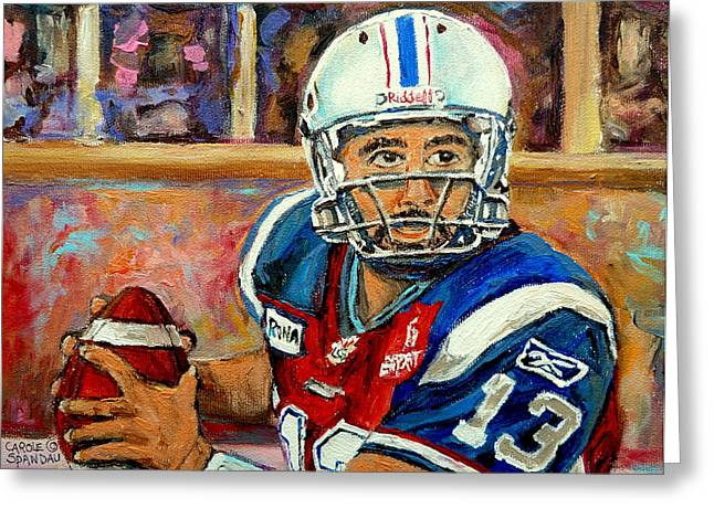 Anthony Calvillo Greeting Card by Carole Spandau