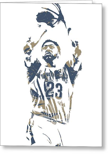 Anthony Davis New Orleans Pelicans Pixel Art 13 Greeting Card