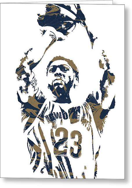 Anthony Davis New Orleans Pelicans Pixel Art 7 Greeting Card