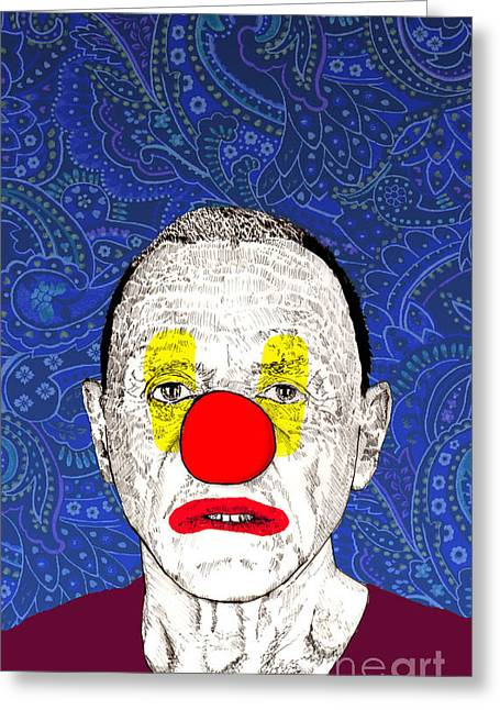 Greeting Card featuring the drawing Anthony Hopkins by Jason Tricktop Matthews