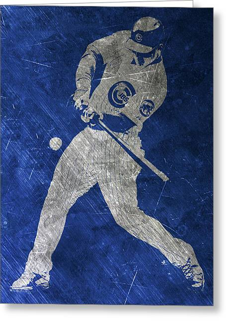 Anthony Rizzo Chicago Cubs Art Greeting Card by Joe Hamilton