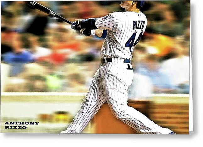 Anthony Rizzo, Chicago Cubs Greeting Card