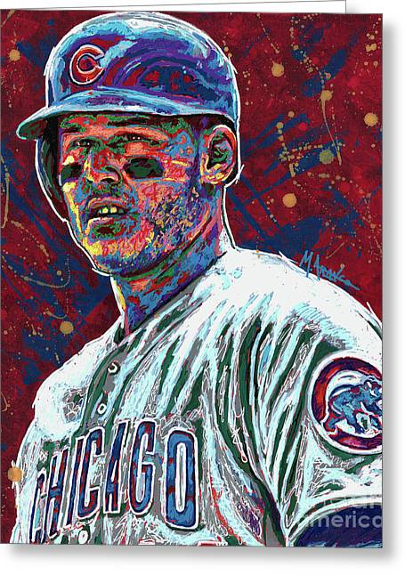 Anthony Rizzo Greeting Card by Maria Arango
