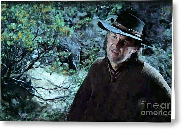 Anthony Zerbe In Rooster Cogburn Greeting Card by J Marielle