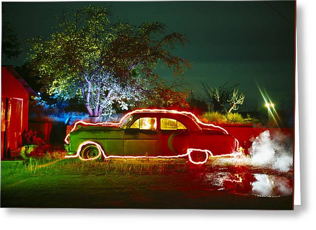 Anthonys Auto Greeting Card by Garry Gay