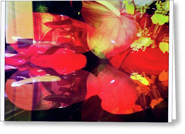 Anthurium Fantasy 2 Greeting Card by Ann Tracy