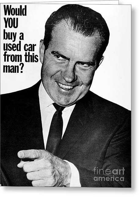 Milhous Greeting Cards - Anti-nixon Poster, 1960 Greeting Card by Granger
