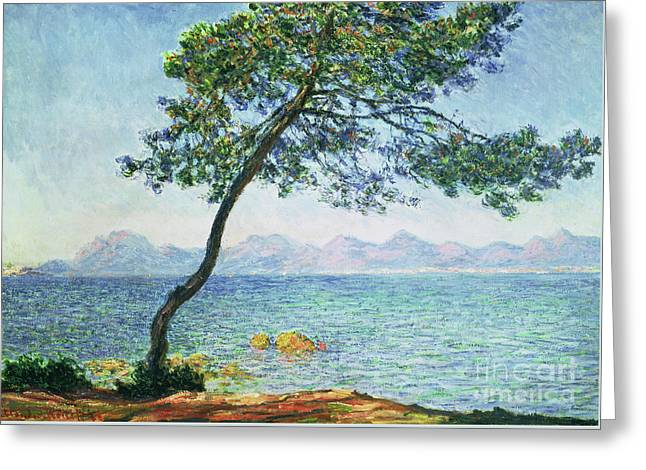 Antibes Greeting Card by Claude Monet