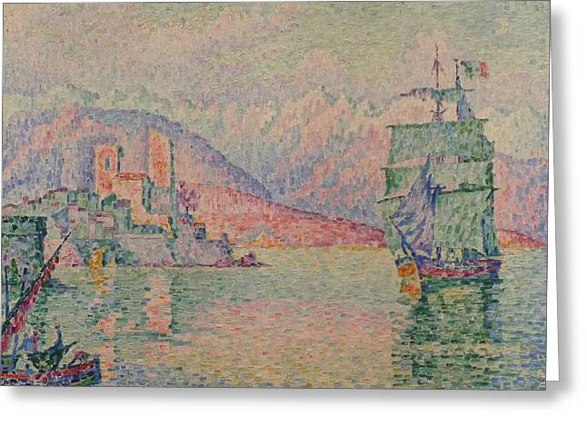 Antibes Evening Greeting Card by Paul Signac
