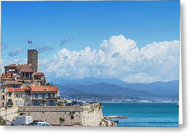 Antibes Old Town - Panoramic Greeting Card by Melanie Viola