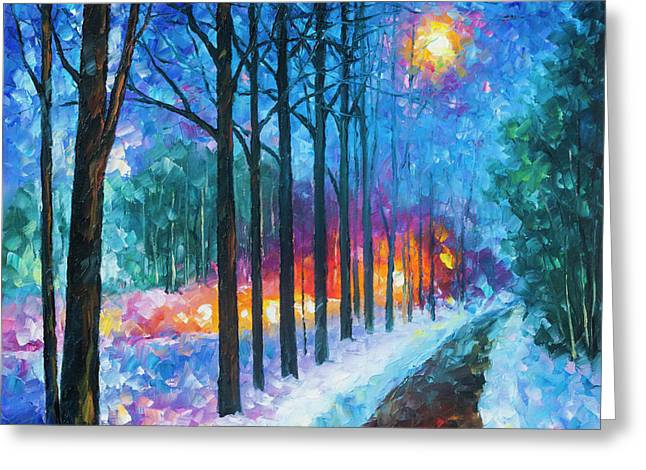 Anticipation Of Spring  Greeting Card by Leonid Afremov