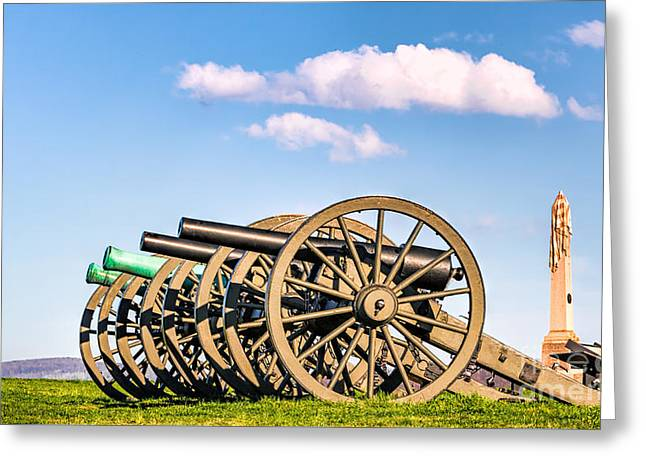 Antietam Cannons Greeting Card by Jerry Fornarotto