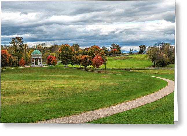 Antietam Maryland State Monument Greeting Card by John M Bailey