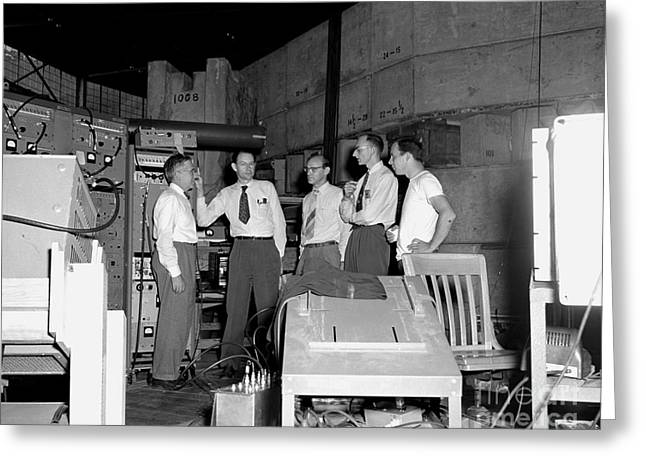 Antiproton Discovery Team, 1955 Greeting Card by Science Source
