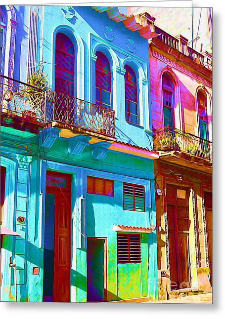 Old Door Mixed Media Greeting Cards - Antiquated Havana Greeting Card by Chris Andruskiewicz