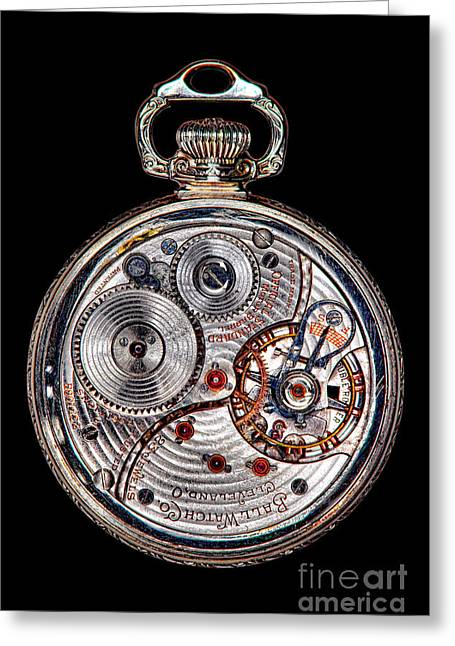 Antique Ball Railroad Watch Movement  Greeting Card by Olivier Le Queinec