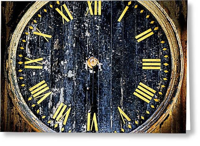 Antique Bell Tower Clock Greeting Card