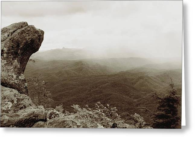 Antique Blowing Rock Image Greeting Card by Dan Sproul