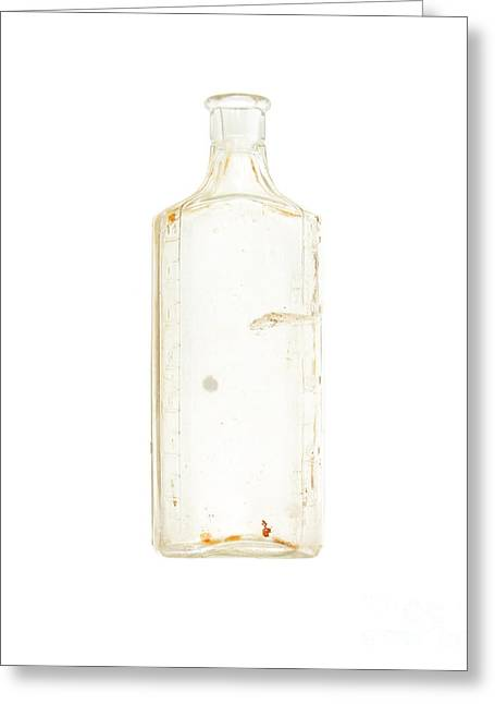 Antique Bottle Greeting Card by Jennifer Booher