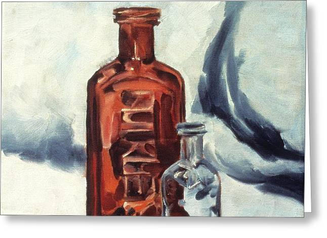 Antique Bottles Greeting Card by Laara WilliamSen