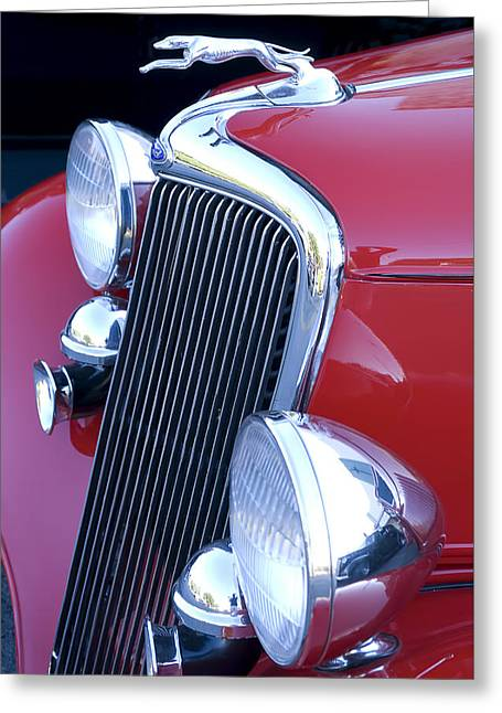 Antique Car Hood Ornament Greeting Card