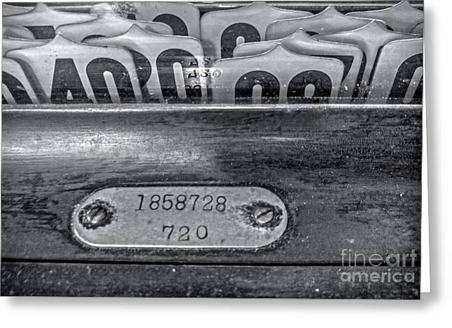 Antique Cash Register 2 Greeting Card by James Aiken