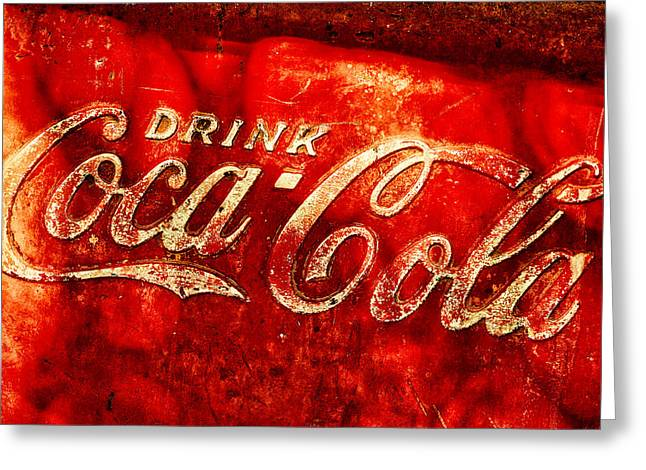 Antique Coca-cola Cooler Greeting Card by Stephen Anderson