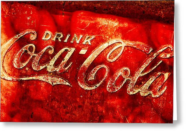 Antique Coca-cola Cooler Greeting Card