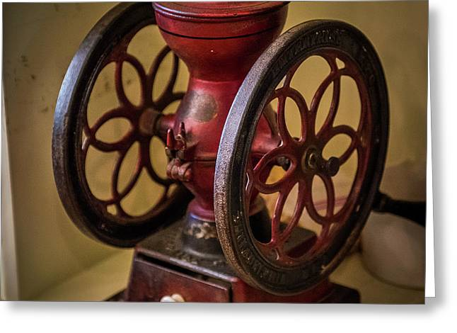 Antique Coffee Mill Greeting Card