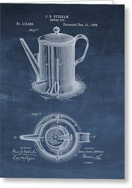 Antique Coffee Pot Patent Greeting Card by Dan Sproul