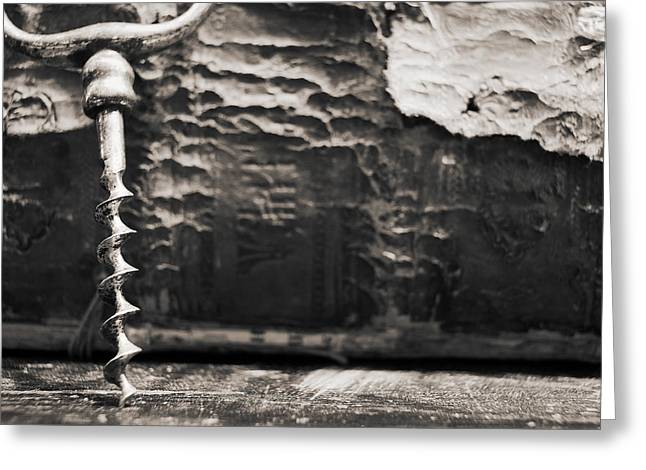 Greeting Card featuring the photograph Antique Corkscrew. by Andrey  Godyaykin