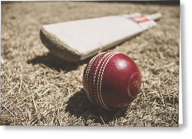 Antique Cricket Test Match Greeting Card by Jorgo Photography - Wall Art Gallery
