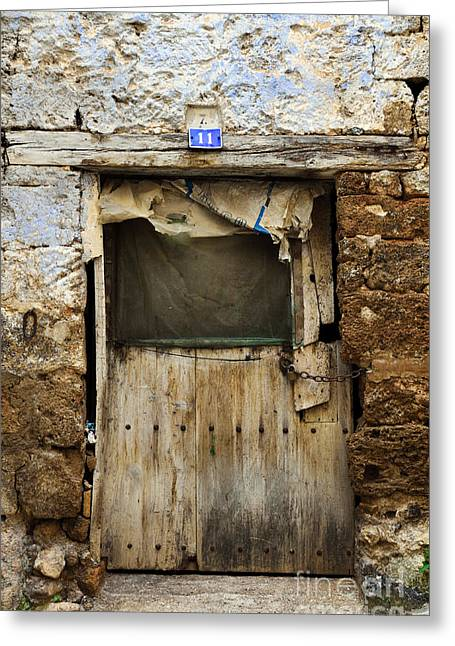 Antique Damaged Door Greeting Card by RicardMN Photography
