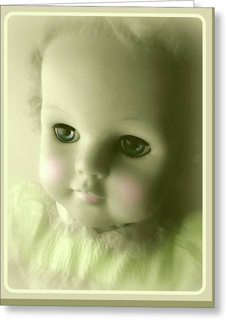 Antique Doll Vignette The Second Greeting Card
