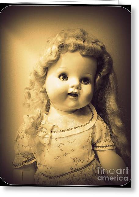Antique Dolly Greeting Card by Susan Lafleur