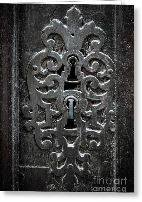 Antique Door Lock Greeting Card