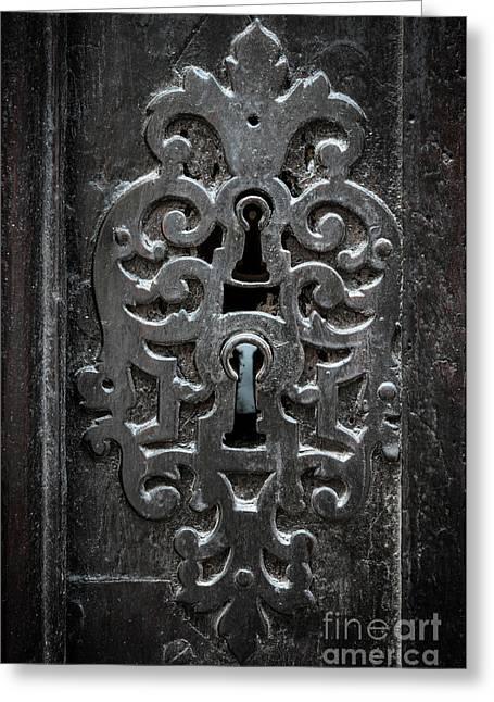 Antique Door Lock Greeting Card by Elena Elisseeva